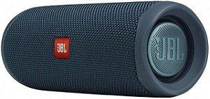 Caixa Bluetooth JBL Flip 5 Blue, Estéreo, Classificação IPX7 à prova d?água, S/Fio, Viva voz, Recarregável, Autonomia para 12hs.