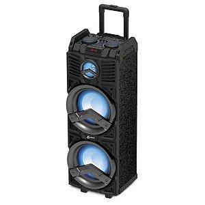 "Caixa Amplificada Lenoxx CA500 500W 2x8"", Bluetooth, USB, Entrada Para Microfone."