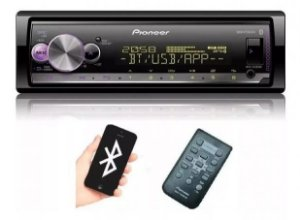 Auto Rádio Pioneer MVH-X3000BR, Bluetooth®, USB, Entrada Auxiliar, 2 Saídas Pré-Amplificadas, Comando de Volante, Spotify, Pioneer Smart Sync.