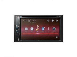 "Auto Rádio Pioneer AVH-G218BT, 2 DIN Com Tela de 6,2"" WVGA, Bluetooth, Entrada Auxiliar, USB, MP3, Rádio AM/FM."