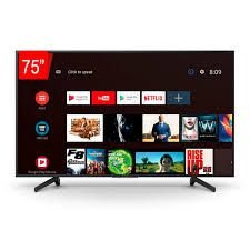 """TV LED Sony 75"""" XBR-75X805G Smart UHD 4K, 4K X-Reality Pro, X-Protection Pro, Android TV."""