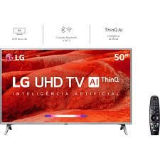 Smart TV LG 50UM7500 Led 50'', UHD 4K HDR, Wi-Fi, ThinQ AI, 4 HDMI, 2 USB