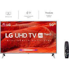 Smart TV LG 50UM7500 Led 50'', UHD 4K HDR, Wi-Fi, ThinQ AI, 4 HDMI, 2 USB