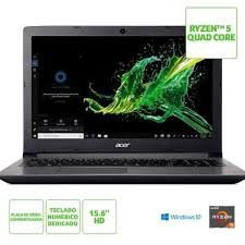 Notebook Acer Aspire 3 AMD Ryzen 5 2500U, 12GB, HD 1TB, Windows 10 Home, 15.6´, Cinza - A315-41-R4RB
