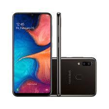 """Smartphone Samsung A20, (SP), Android 9.0, Dual Chip, Câmera traseira Dupla13 MP + 5 MP, Frontal 8 MP, 6.4"""", 32 GB, RAM 3GB, Rede 4G, Preto"""
