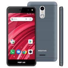 Smartphone Positivo S509 Twist, Android Oreo (Go Edition) Dual chip, Processador Quad Core 1.3 GHz, Câmera traseira de 5MP e frontal de 5MP, Cinza...