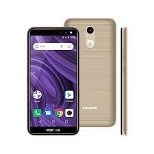 """Smartphone Positivo S512 Twist 2, Android 9.0, Dual chip, Câmera de 8MP, frontal de 5MP, Tela 5.34"""", 16GB, 3G, Dourado"""