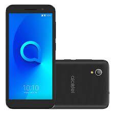 Smartphone Alcatel 1 5033J, Android Oreo Versão GO, Dual chip, Processador Quad Core 1.28Ghz, Câmera traseira de 8MP e frontal de 5MP, Tela Preto...