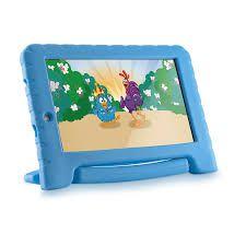 Tablet Multilaser Galinha Pintadinha M7S Plus, Wi-fi, 16GB Memória interna, 1GB de RAM, Tela 7'', Quad Core, Android 8.1 Oreo, Dual câmera,...