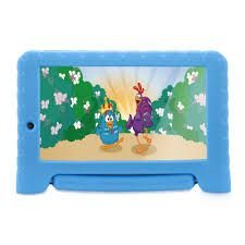 Tablet Galinha Pintadinha Plus Quad Core 1GB RAM Wifi 7 Pol. 8GB Android 7 Azul Multilaser - NB282