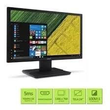"Monitor Acer, V246HL HDMI, Tela de 24"" Full HD"