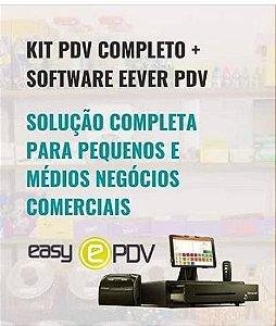 KIT PDV COMPLETO + SOFTWARE EEVER PDV PARCELAMENTO DE 12X SEM JUROS
