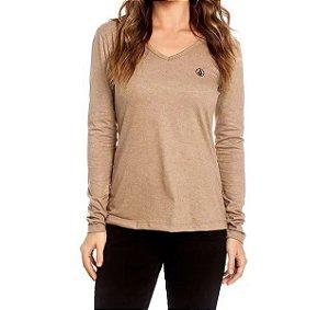 Camisa Volcom Feminino Basic Stone