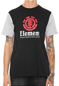 Camiseta Element Vertical Preto Masculino