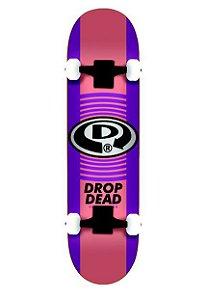 Skate Montado Drop Dead Circular Roxo Iniciante