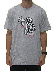 Camiseta Qix Dogtown Caveira Cinza