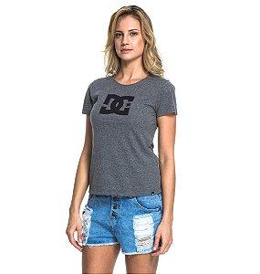 Camiseta DC Básica Star Cinza Feminino