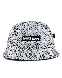 Bucket Hat Simple Pixels White