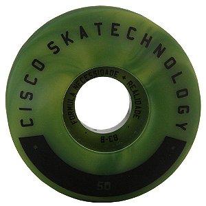 Roda Skate Cisco Mix Color 50 mm - Verde