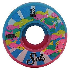 Roda Skate Solo Peixes 53 mm - Rosa e Azul
