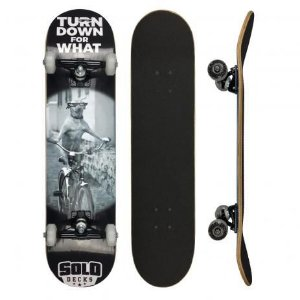 """Skate Montado Solo Deck's Profissional Turn Down For What 8"""""""
