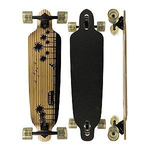 Skate Longboard Flying Simétrico Bamboo Kombi Orla da Praia