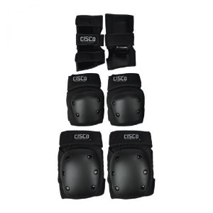 Kit Proteção Cisco Skate Munhequeira Cotoveleira  Joelheira