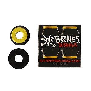 Amortecedor Bones Skate Bushing Medium 91A Amarelo e Preto