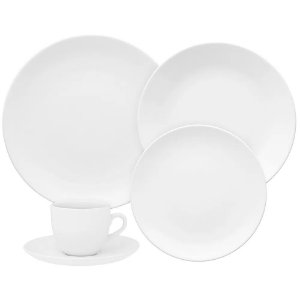 Aparelho de Jantar e  Chá Coup White- Oxford