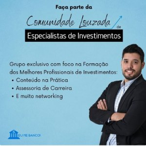 Quer ser um Expert em investimento? talvez esta seja sua oportunidade, saiba mais clicando na descrição.