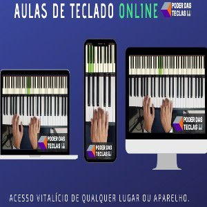 TECLADO: Aprenda tocar teclado de maneira fácil e descomplicado, clique na imagem e na descrição para saber mais.