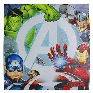 Quadro Canvas 40x40cm Avengers Logo