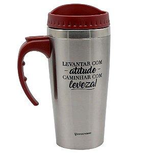 Copo Viagem Travel Cup C/Alça 500ml Atitude e Leveza