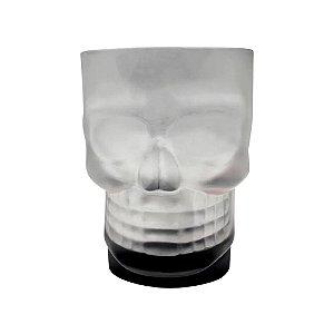 Caneca 500ml Caveira Skull Mug C/Base Preta