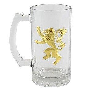 Caneca C/Brasão de Metal 450ml Lannister
