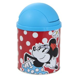 Lixeira Minnie Mouse 19x12x12cm