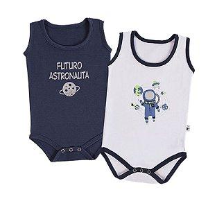 Kit Bebê 2 Body Regata - Astronauta - Marinho - Colibri