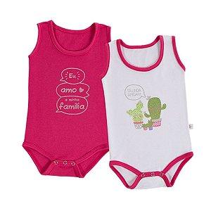 Kit Bebê 2 Body Regata - Cactus - Pink - Colibri