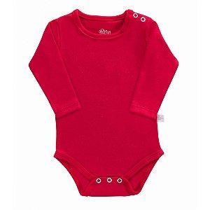 Body Bebê Manga Longa Vermelho - Colibri