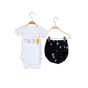 Conjunto Bebê Menino - Body e Tapa Fralda Estampa Digital - Keko