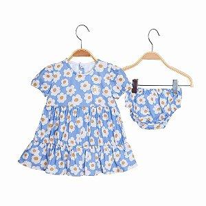 Vestido Bebe em Camadas Dayse - Azul - Keko