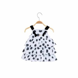 Vestido de Alça em Camadas Maxi Bolas - Keko