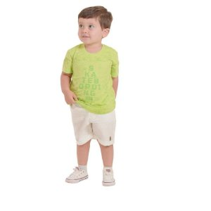 Conjunto Infantil Masculino Bermuda e Camiseta - Neon - Vigat