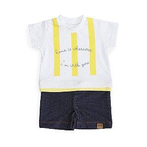 Macacão Bebê Camisa Listrada - Keko Baby