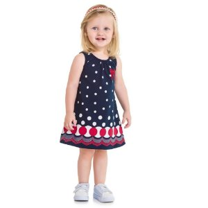 Vestido Infantil de Bolinha - Kyly