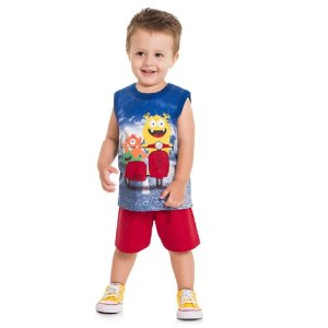 Conjunto Infantil Masculino Monstrinhos - Kyly