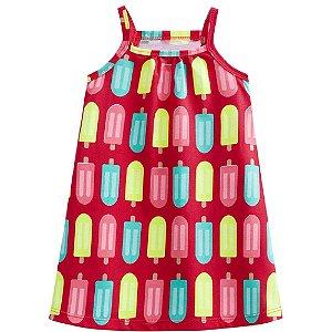 Vestido Infantil Feminino Picolé - Kyly