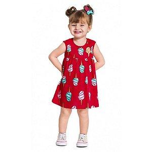 Vestido Infantil Feminino Sorvete - Kyly