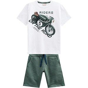 Conjunto Infantil Masculino Riders - Camiseta + Bermuda Milon