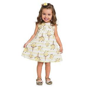 Vestido Infantil Cotton Flor - Milon